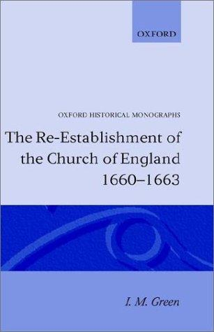 Download The re-establishment of the Church of England, 1660-1663