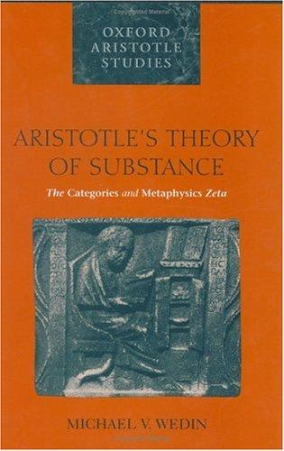 Download Aristotle's theory of substance