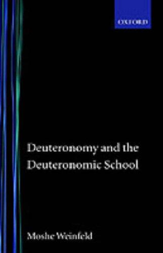 Deuteronomy and the Deuteronomic school.