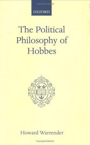 Download The political philosophy of Hobbes