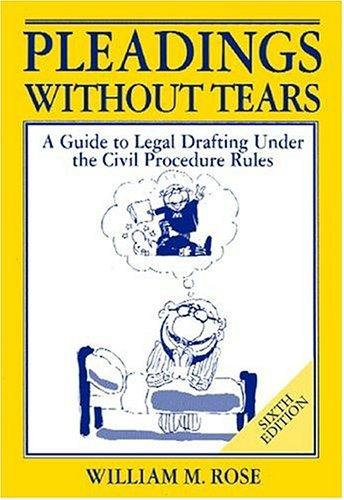 Download Pleadings without tears