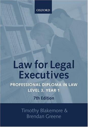 Law for legal executives.