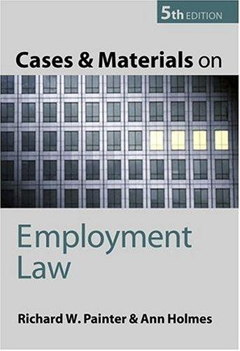 Download Cases and materials on employment law