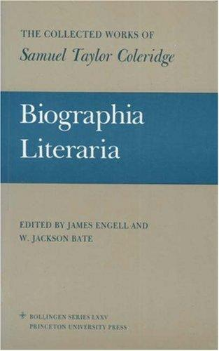 Download Biographia literaria, or, Biographical sketches of my literary life and opinions