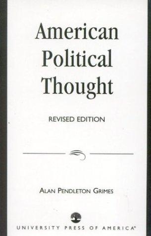 Download American political thought
