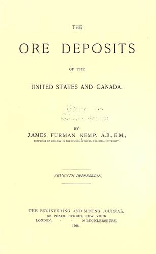 Download The ore deposits of the United States and Canada