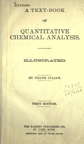 Download A text-book of quantitative chemical analysis.