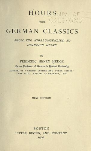 Hours with German classics