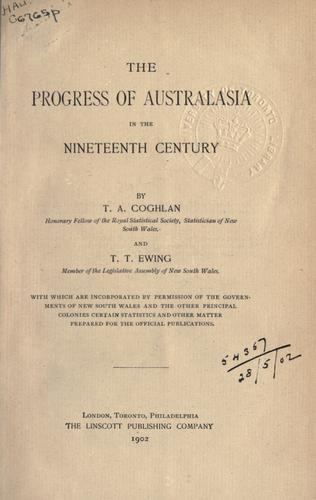 Download The progress of Australasia in the nineteenth century.