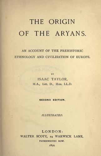 Download The origin of the Aryans