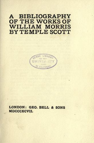 A bibliography of the works of William Morris