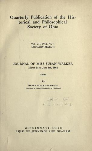Download Journal of Miss Susan Walker, March 3d to June 6th, 1862