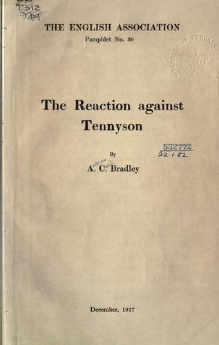 The reaction against Tennyson.