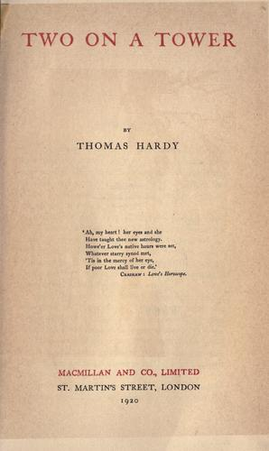 Download The works of Thomas Hardy in prose and verse, with prefaces and notes.