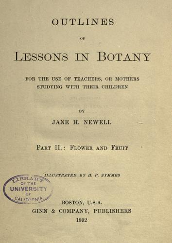 Outlines of lessons in botany.