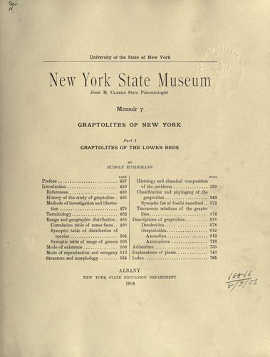Graptolites of New York