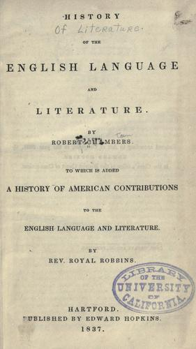 Download History of the English language and literature.