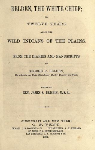 Download Belden, the white chief