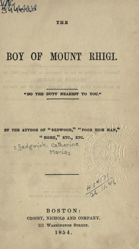 The boy of Mount Rhigi.