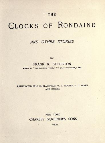 Download The Clocks of rondaine, and other stories