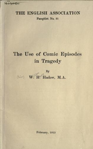 Download The use of comic episodes in tragedy