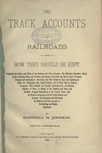 Download The track accounts of railroads and how they should be kept …