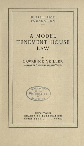 A model tenement house law
