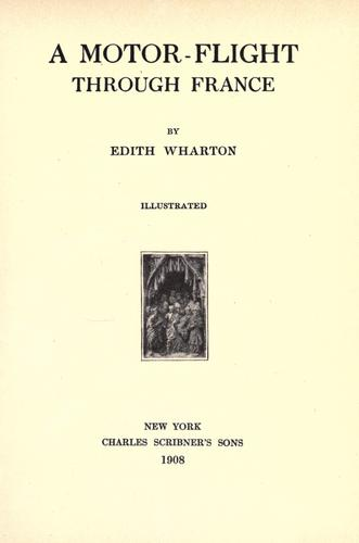 A motor-flight through France by Edith Wharton