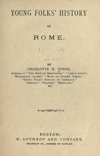 Download Young folk's history of Rome.
