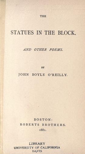 The statues in the block, and other poems.