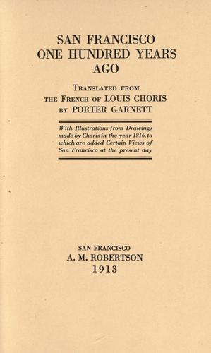 Download San Francisco one hundred years ago