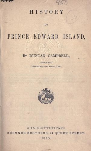 Download History of Prince Edward Island.