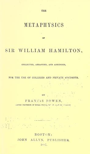 Propylaeum: Sir William Hamilton