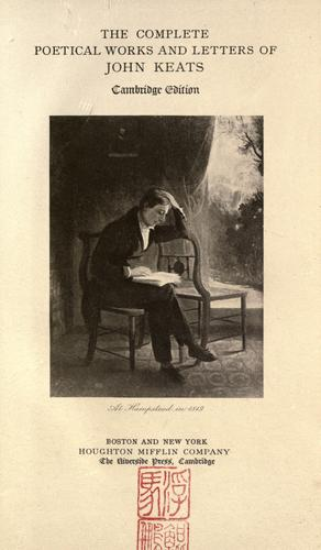 Download The complete poetical works and letters of John Keats.