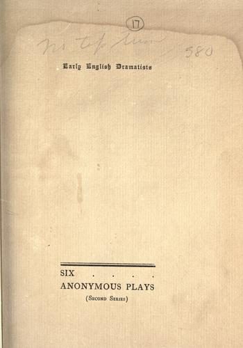 Six anonymous plays.