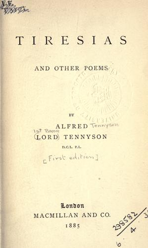 Tiresias, and other poems.