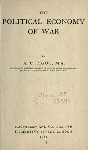 Download The political economy of war