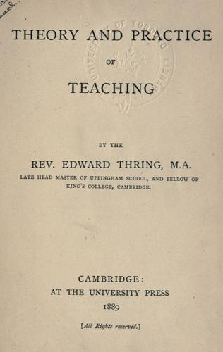 Theory and practice of teaching.