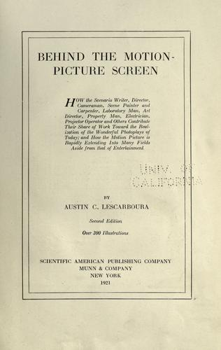 Download Behind the motion-picture screen