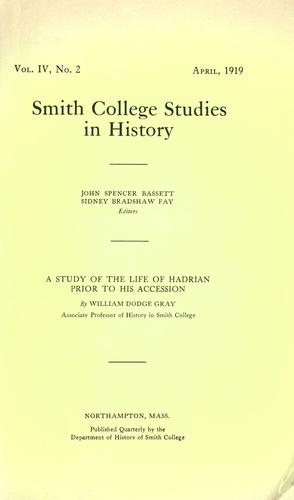 A study of the life of Hadrian prior to his accession.
