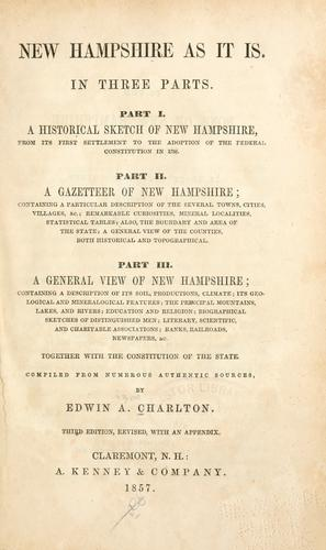 Download New Hampshire as it is …