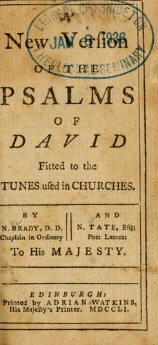 Download A New version of the Psalms of David