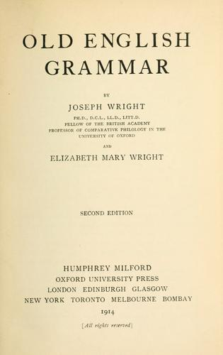 Download Old English grammar