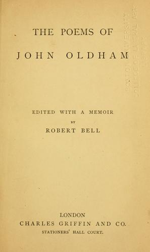 The poems of John Oldham