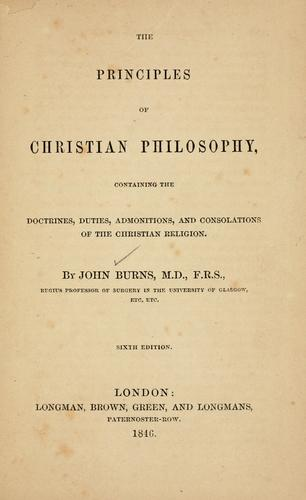 Download The principles of Christian philosophy