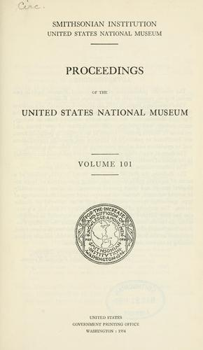 Proceedings of the United States National Museum.