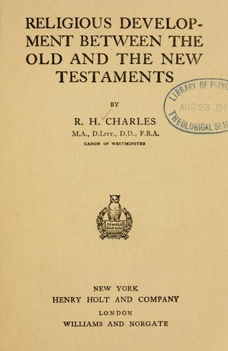 Download Religious development between the Old and the New Testaments