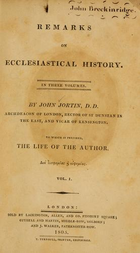 Download Remarks on ecclesiastical history.