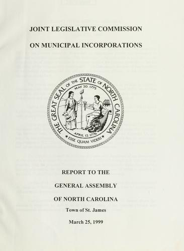 Report to the General Assembly of North Carolina