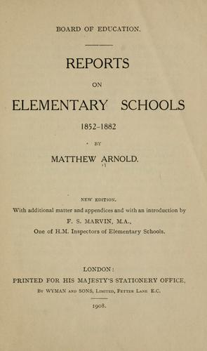 Download Reports on elementary schools 1852-1882